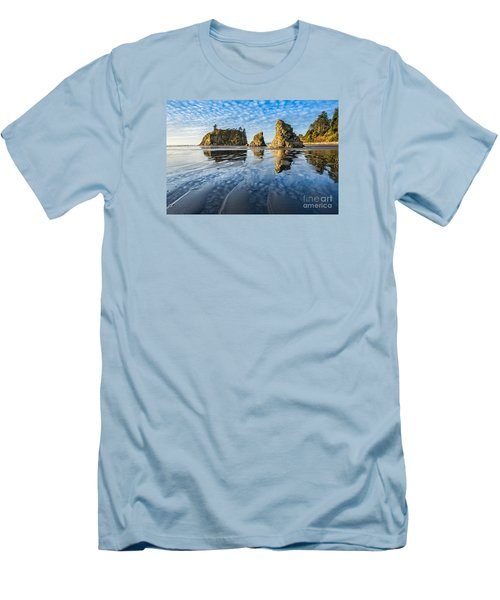 Ruby Beach Reflection Men's T-Shirt (Athletic Fit)