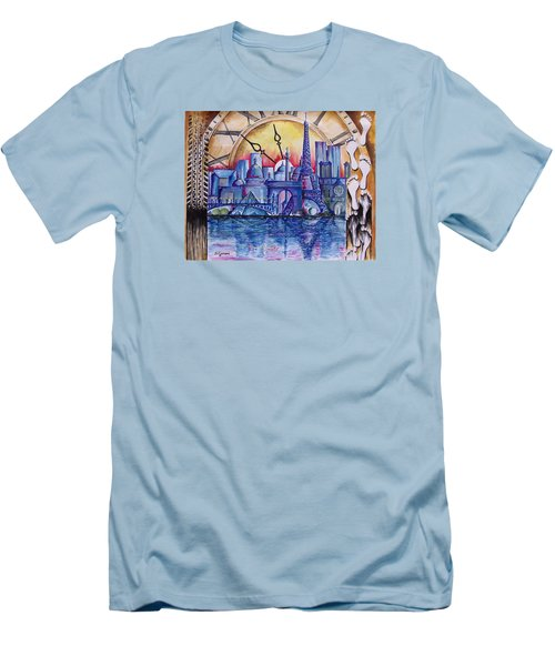 Rush Hour In Paris Men's T-Shirt (Slim Fit) by Geni Gorani