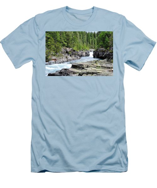 Rushing Water Men's T-Shirt (Athletic Fit)