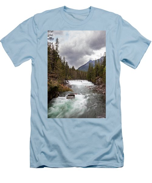 Men's T-Shirt (Athletic Fit) featuring the photograph Rushing Waters by Fran Riley