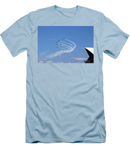 Men's T-Shirt (Athletic Fit) featuring the photograph Russian Roolettes And Opera House by Miroslava Jurcik