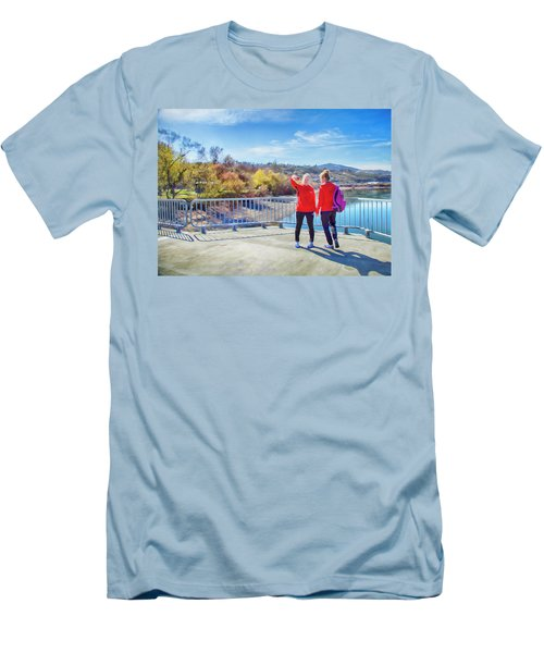 Men's T-Shirt (Slim Fit) featuring the photograph Russian Selfie by Theresa Tahara