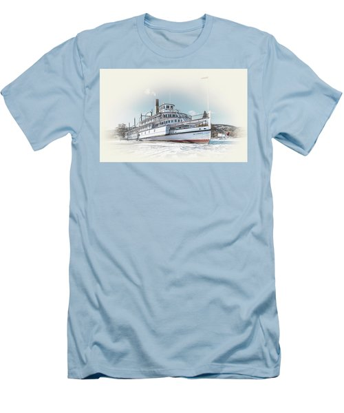 Men's T-Shirt (Slim Fit) featuring the photograph S. S. Sicamous II by John Poon