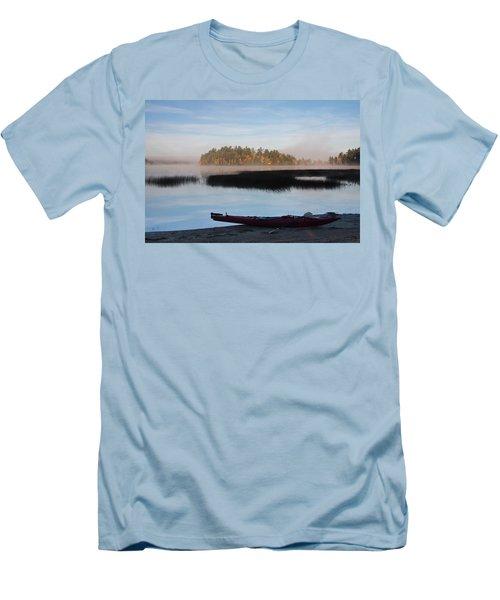 Sabao Morning Men's T-Shirt (Slim Fit) by Brent L Ander