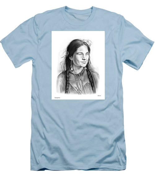 Sacagawea Men's T-Shirt (Slim Fit) by Greg Joens