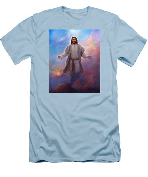 Men's T-Shirt (Slim Fit) featuring the painting Sacred Space by Greg Olsen