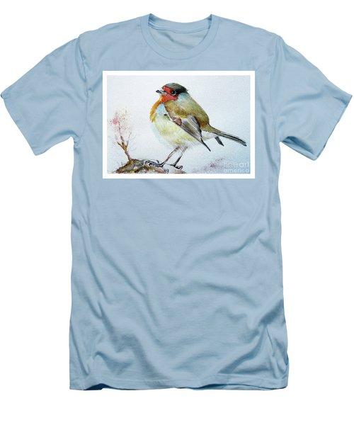 Sad Robin Men's T-Shirt (Slim Fit) by Jasna Dragun