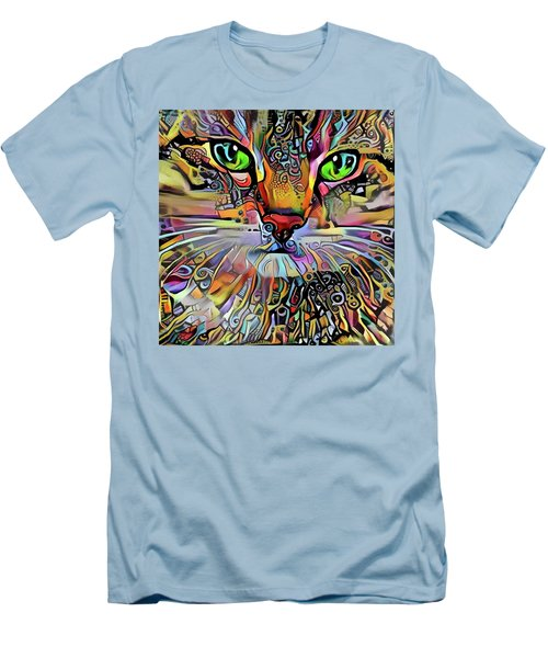 Sadie The Colorful Abstract Cat Men's T-Shirt (Athletic Fit)