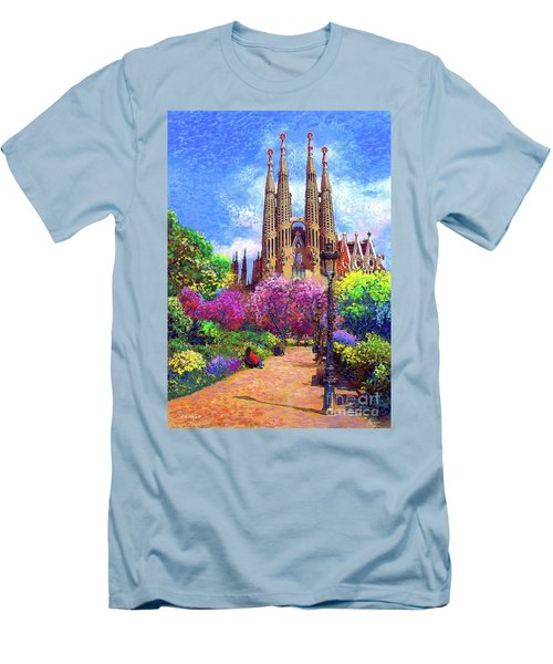 Sagrada Familia And Park Barcelona Men's T-Shirt (Athletic Fit)