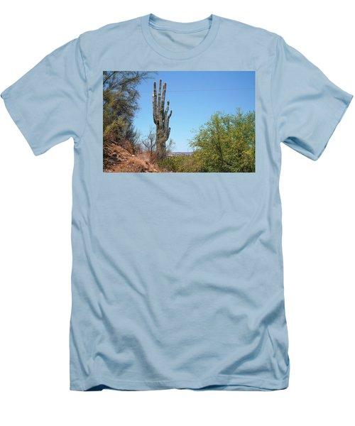 Saguaro Cactus Men's T-Shirt (Athletic Fit)