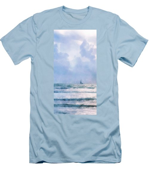 Men's T-Shirt (Slim Fit) featuring the digital art Sail At Sea by Francesa Miller
