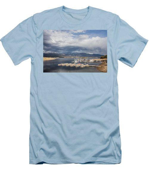 Men's T-Shirt (Slim Fit) featuring the photograph Sailboat Slips On Lake Granby In Grand County by Carol M Highsmith