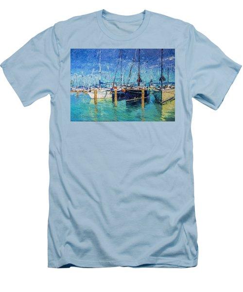 Sailboats At Balatonfured Men's T-Shirt (Athletic Fit)
