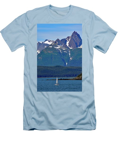 Men's T-Shirt (Slim Fit) featuring the photograph Sailing Lynn Canal by Cathy Mahnke