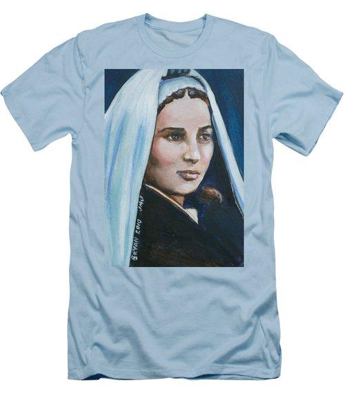 Saint Bernadette Soubirous Men's T-Shirt (Slim Fit) by Bryan Bustard