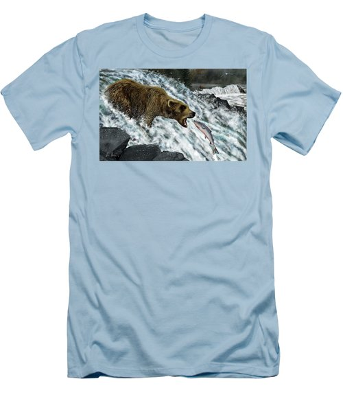 Salmon Fishing Men's T-Shirt (Athletic Fit)