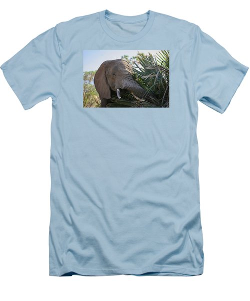 Men's T-Shirt (Slim Fit) featuring the photograph Samburu Elephant by Gary Hall