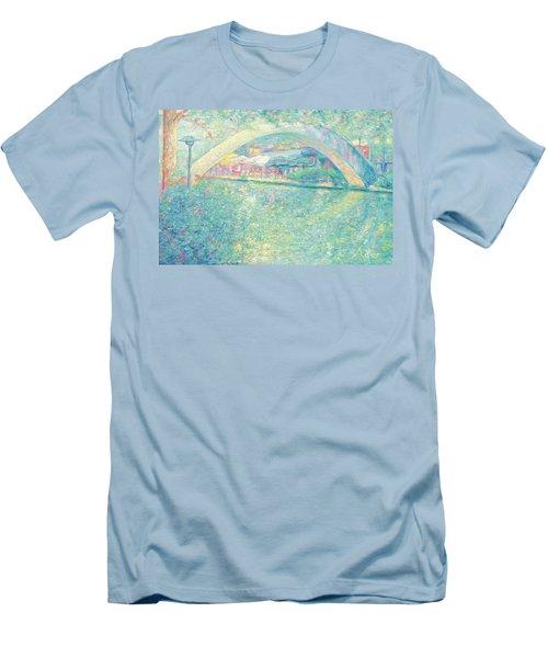 San Antonio Riverwalk Men's T-Shirt (Slim Fit) by Felipe Adan Lerma