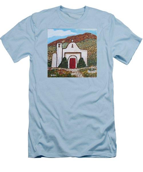 San Francisco De Asis Mission Church, Golden, Nm Men's T-Shirt (Slim Fit)