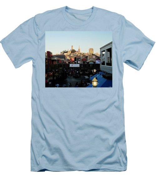 San Francisco In The Sun Men's T-Shirt (Slim Fit) by Tony Mathews