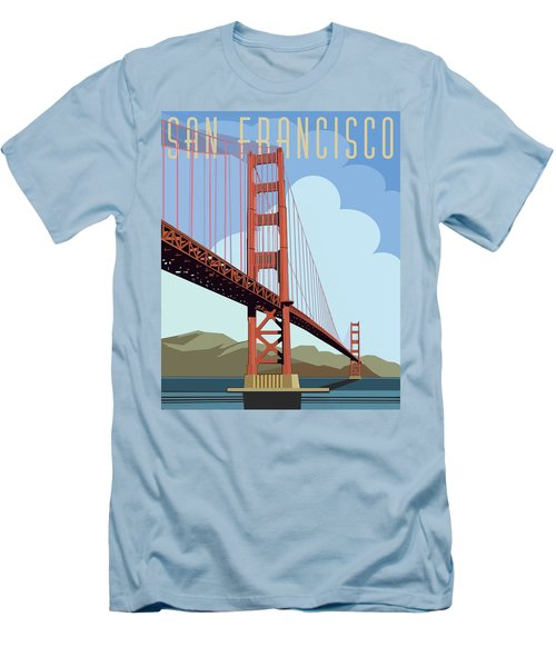 San Francisco Poster  Men's T-Shirt (Athletic Fit)