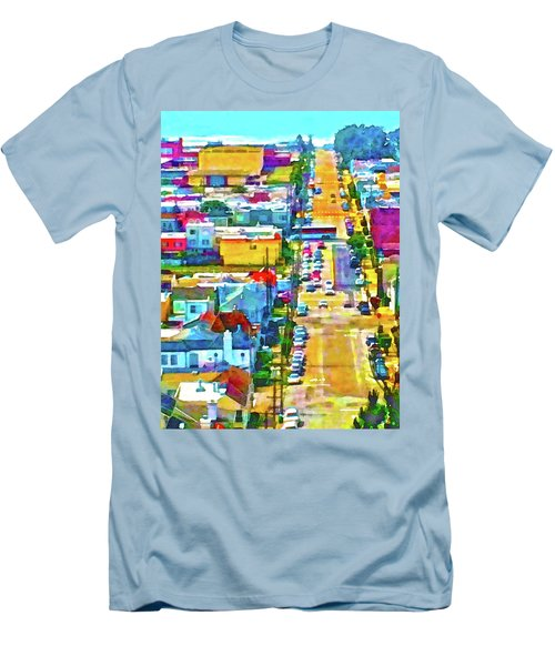San Francisco Quintara View Men's T-Shirt (Athletic Fit)
