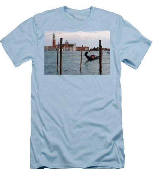 San Giorgio Maggiore Gondola Men's T-Shirt (Slim Fit) by Robert Moss