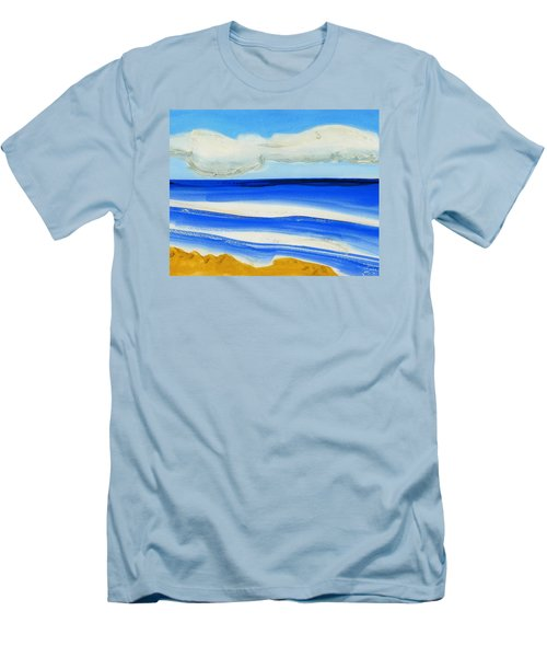 Men's T-Shirt (Slim Fit) featuring the painting San Juan, Puerto Rico by Dick Sauer