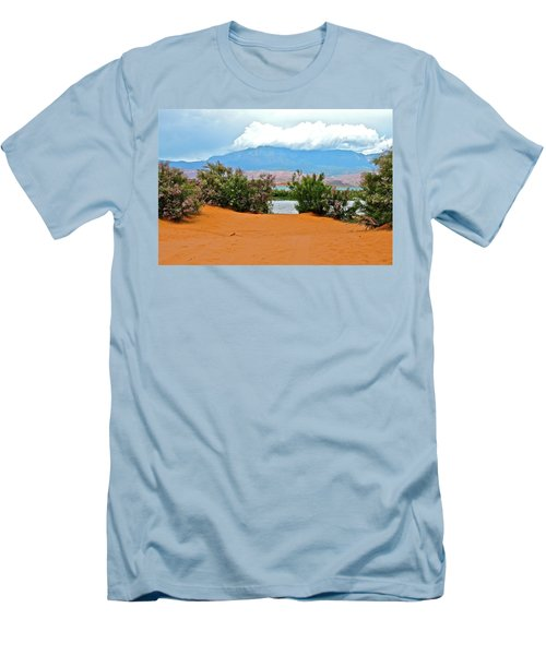 Sand Hallow Reservoir Men's T-Shirt (Athletic Fit)