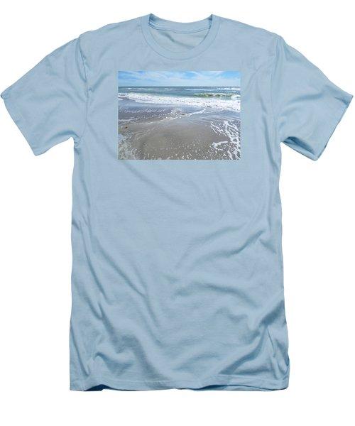 Sand, Sea, Sun, No. 3 Men's T-Shirt (Slim Fit) by Ginny Schmidt