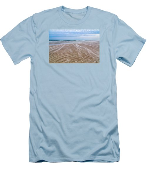 Men's T-Shirt (Slim Fit) featuring the photograph Sand Swirls On The Beach by John M Bailey