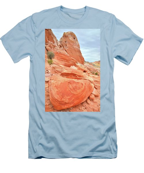 Men's T-Shirt (Slim Fit) featuring the photograph Sandstone Pillar In Valley Of Fire by Ray Mathis
