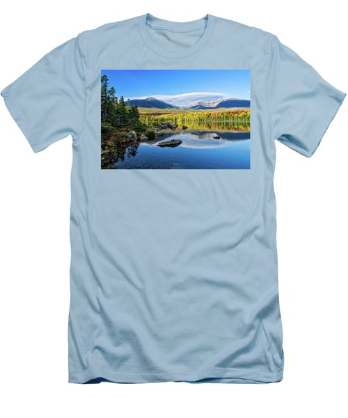 Sandy Stream Pond Baxter Sp Maine Men's T-Shirt (Slim Fit) by Michael Hubley