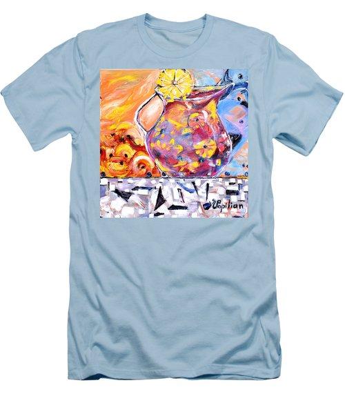 Sangria  Men's T-Shirt (Athletic Fit)