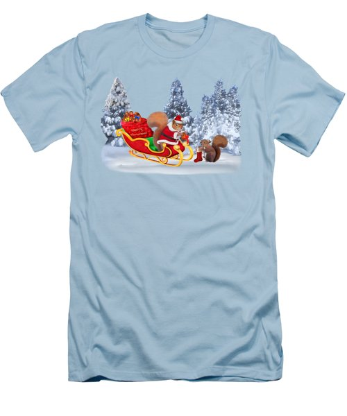 Santa's Little Helper Men's T-Shirt (Slim Fit) by Glenn Holbrook