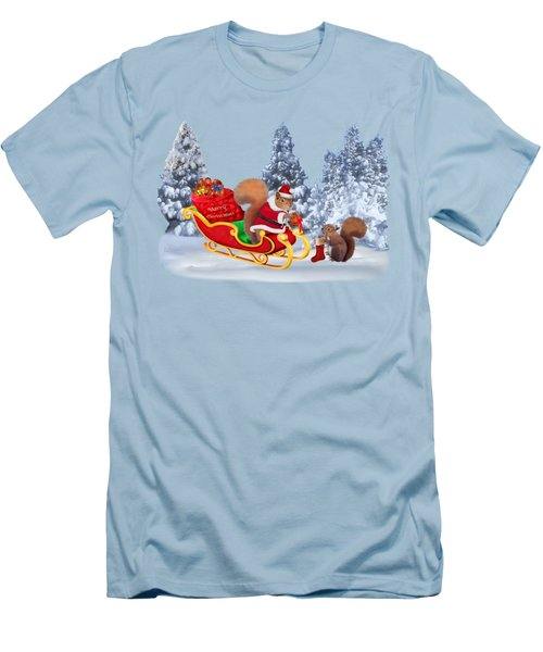 Santa's Little Helper Men's T-Shirt (Athletic Fit)