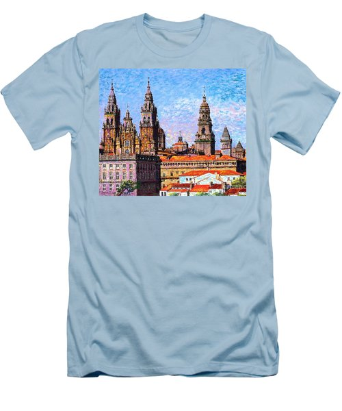 Santiago De Compostela, Cathedral, Spain Men's T-Shirt (Athletic Fit)