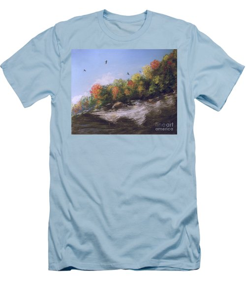 Soaring Over The North Rim, Autumn Men's T-Shirt (Athletic Fit)