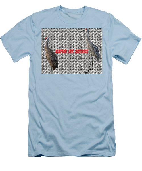 Sassy Sandhil Cranes Men's T-Shirt (Slim Fit) by Audrey Robillard