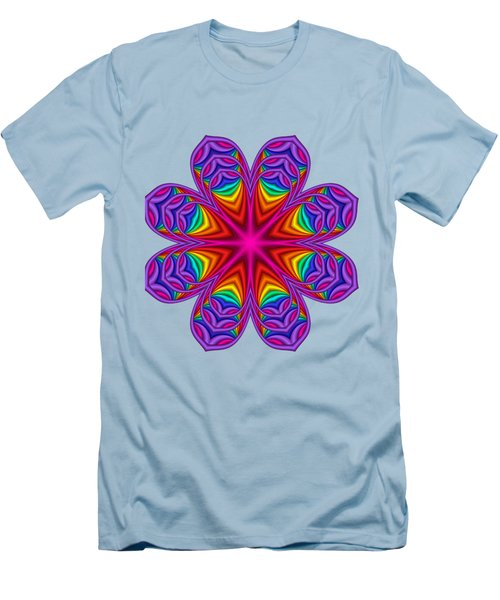 Satin Fractal Flower 3 Men's T-Shirt (Athletic Fit)