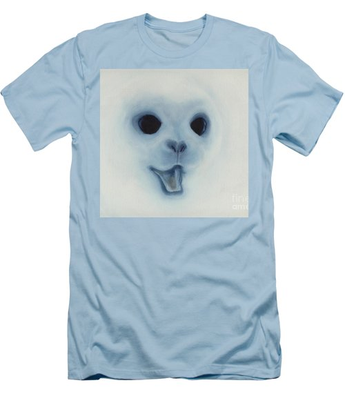 Men's T-Shirt (Slim Fit) featuring the painting Save The Baby Seals by Annemeet Hasidi- van der Leij