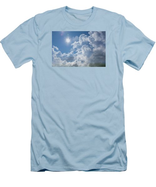 Sayers Homestead In The Clouds Men's T-Shirt (Slim Fit) by Ellery Russell