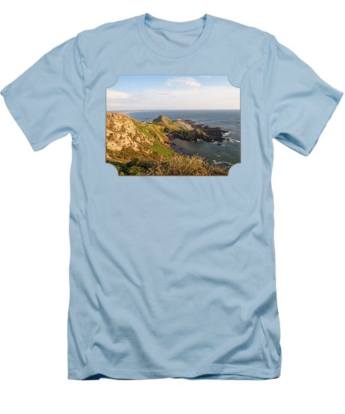 Scenic Coastline At Corbiere Men's T-Shirt (Athletic Fit)