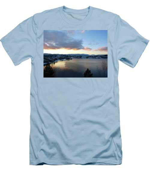 Men's T-Shirt (Slim Fit) featuring the photograph Scenic Lake Country by Will Borden