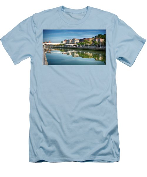 Scenic River View Men's T-Shirt (Slim Fit) by James Hammond