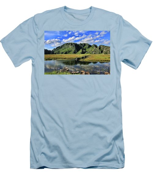 Scenic Route  Men's T-Shirt (Slim Fit) by Chuck Kuhn