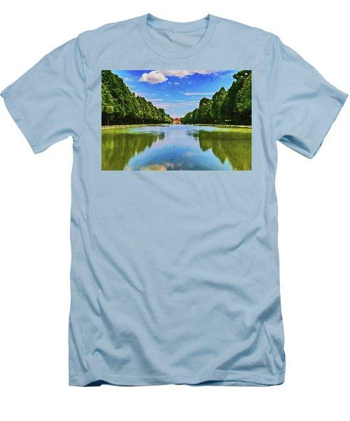 Men's T-Shirt (Athletic Fit) featuring the digital art Schleiheim by PixBreak Art