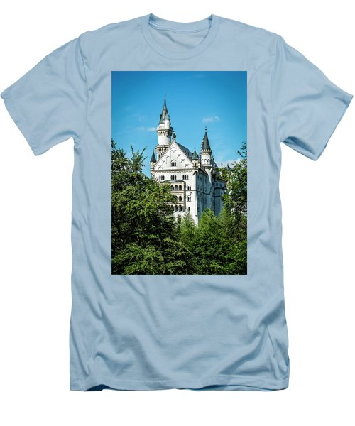 Men's T-Shirt (Athletic Fit) featuring the photograph Schloss Neuschwantstein by David Morefield