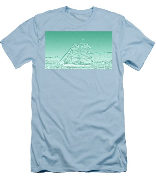 Schooner On New York Harbor No. 3-3 Men's T-Shirt (Athletic Fit)