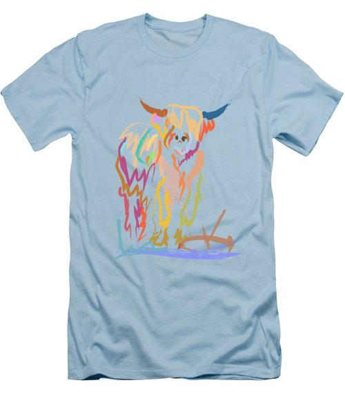 Scottish Highland Cow Men's T-Shirt (Athletic Fit)
